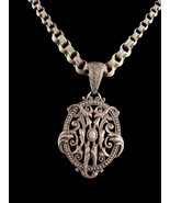 Antique sterling necklace - Dramatic Victorian Baroque pendant  Vintage ... - $245.00