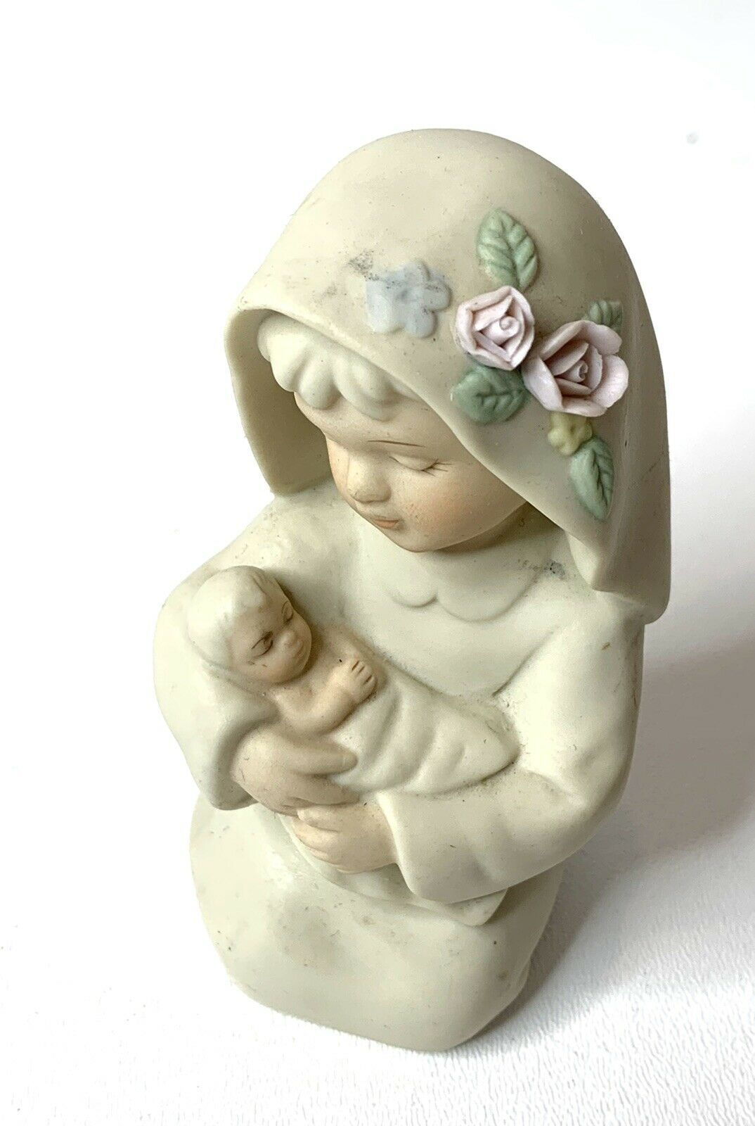 Vintage 1992 Homco Porcelain Figures Holy Family Home Interiors Mary Baby Jesus - $17.79