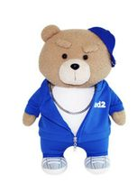 Ezen Creation Hippop Stuffed Animal Teddy Bear Plush Toy 35cm 13.7 inches (Blue) image 3