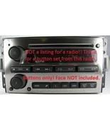 Button knob set for H3 CD MP3 radio.OEM factory original stereo parts. 2006-2010 - $25.00