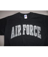 Vintage Black Russell Athletic Air Force Academy Falcons NCAA T Shirt Me... - $21.62