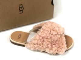 Ugg Australia Suntan Curly Sheepskin Leather Joni Slide Sandals Women's 1019967 - $79.99