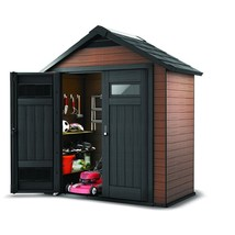 Garden Storage Shed Resin Wood Backyard 7.5 x 4 Ft. Steel Outdoor Yard M... - $1,741.19