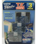 """Brother TZ-2322 TZ Tape Black on White, 1- 3-Pack 2-1/2"""" &1-3/8"""" P-touch... - $19.33"""