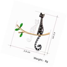 Cat Enamel Brooch Pins Gifts for Women Cute,Fashion Animal - £9.82 GBP