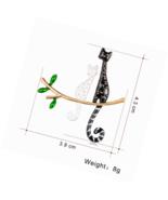 Cat Enamel Brooch Pins Gifts for Women Cute,Fashion Animal - $13.57