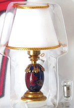 Dollhouse Miniature  Lamp Dark Blue w/Clay 1:12   - $18.99