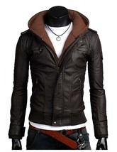 Mens Black Genuine Cowhide Hand made Leather Jacket Real Bespoke  Leather - $118.79+
