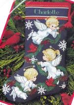 Dimensions Angel Trio Cardinals Snowflakes Pine Cross Stitch Stocking Kit 8644 E - $148.95