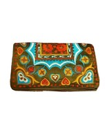Shiraleah Purse Green Silk Floral Bright Floral Embroidered Clutch Cocktail - $31.68