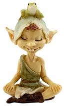 Top Collection Miniature Fairy Garden and Terrarium Pixie Meditating wit... - $14.57