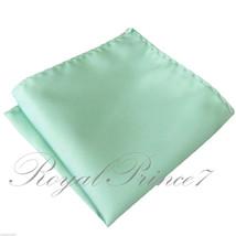 Pastel Mint Green Micro Fiber Solid Handkerchief Pocket Square Hanky Wed... - $4.78