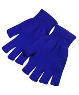 Navy 2 Pair Unisex Soft Half Finger Gloves Warm Knitted Mittens Fingerless - $14.00