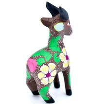 Handmade Alebrijes Oaxacan Wood Carving Painted Folk Art Mountain Goat Figurine  image 4