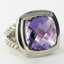 David Yurman Albion Amethyst Ring 17mm Cable Sterling Split Shank Sz 7 New $1275 - $897.25