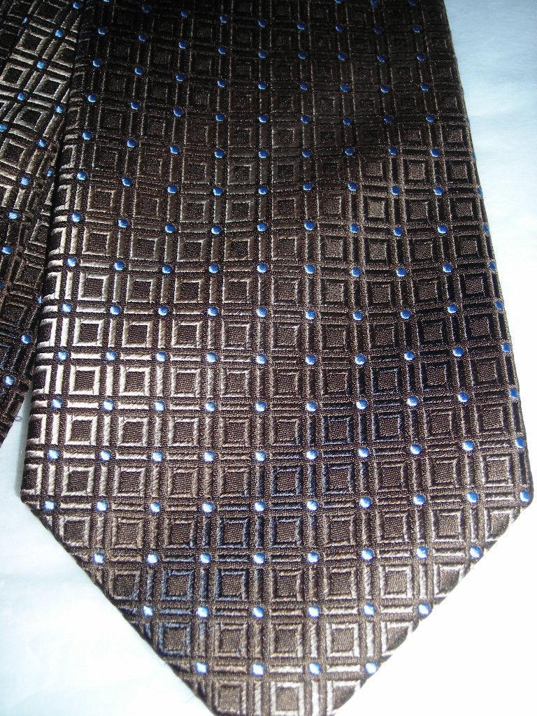 Kenneth Cole Nice Brown Blended Men Neck Tie