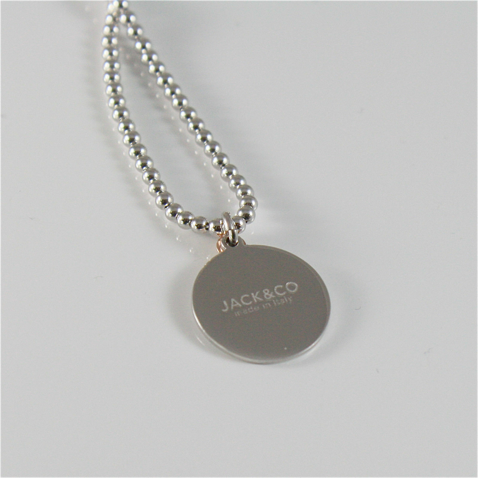 Necklace to Balls Silver 925 Jack&co with Infinity in Rose Gold 9KT JCN0548 image 4