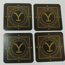 YELLOWSTONE RANCH LOGO Drink Coasters -4 Piece SET from Kevin Costner Se... - $6.92