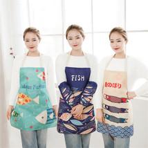 Cartoon Fish Apron Cotton Line Kitchen Cooking Cloth Party Decor Home Te... - $6.73+