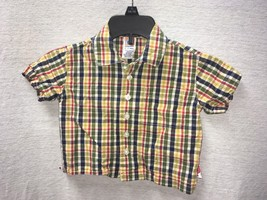 Gymboree Baby Boy Plaid Button Down Short Sleeve Shirt 6-12 Months - $9.89