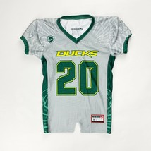 Siege Ducks Football Jersey Youth Boy's Girl's Large Gray Green #20 Oregon - $13.36