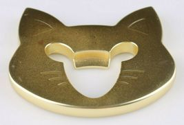 Fred Cap & Mouse Kitty Cat Gold Tone Metal Bottle Opener image 5
