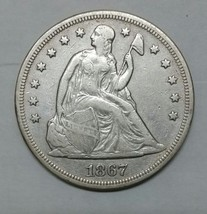 1867 $1 Seated Dollar Silver Coin Lot# MZ 4639 - $531.51