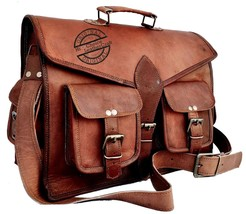 """Leather goat Shoulder Bag Messenger 15""""x11""""x5"""" Laptop Bag For Men  - $56.79"""