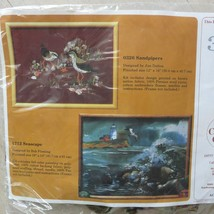 The Creative Circle SANDPIPERS Kit 0326 Embroidery Made in USA Vintage 1... - $24.70