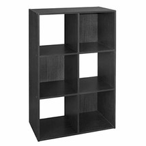 ClosetMaid  Cubeicals Organizer, 6-Cube, Black - $48.38