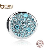 New Spring Collection 925 Sterling Silver Sky Blue Charm fit - $33.99