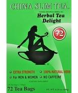 China Slim Herbal Tea Extra Strength Delight For Men and Women 72 Tea Ba... - $29.99
