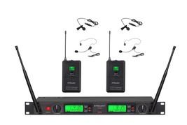 2x100 Channal UHF Wireless Lapel Headset Lavalier Microphone Mic System 22L - $194.89