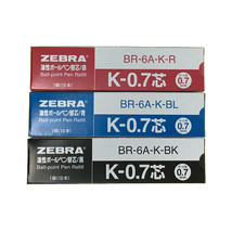 Zebra K-0.7 Red,Blue,Black 0.7mm Refills (10 refills per box)(3 boxes)-MIX - $16.04