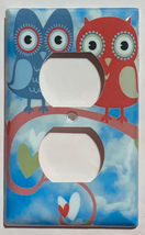 Owl Love patterns Light Switch Outlet wall Cover Plate Home Decor image 2