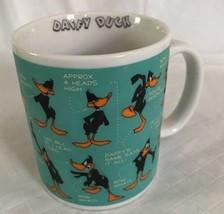 DAFFY DUCK Face MUG - Warner Bros Store 1994  Ceramic Cup FUNNY Sayings ... - $15.83