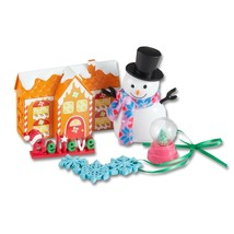 My Life Holiday Decorations Set 7pc with Gingerbread House, Glitter Snow... - $7.91