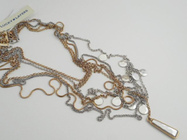 Lucky Brand Multi Strand Charm Necklace - New - $24.75