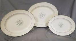 "Vtg Homer Laughlin ""Celeste"" Pattern, Set of 3 Serving Platters (circa 1... - $36.00"