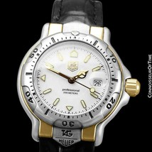 TAG HEUER PROFESSIONAL 6000 Ladies SS 18KGP Divers Watch - Mint, 2 Year ... - $779.10
