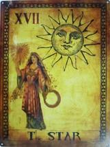The Star Tarot Card XVll Metal Sign - $29.95