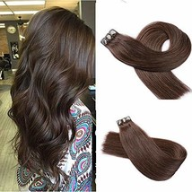 Hair ExtensionsTape in Dark Brown Remy Human Hair Extensions 14inch Double SideT - $49.86