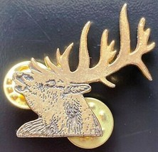 Vintage Empire Pewter Elk Head Pin - Free Combined S/H - $7.25