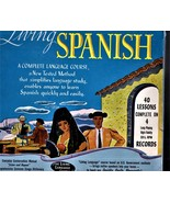 Living Spanish -(40 Lessons on 4 Records(Conversation Manual & Usage Dic... - $12.50
