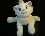 "Disney Land WDW  Aristocats Marie Large Plush White Cat 15"" Vintage"