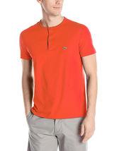 New Lacoste Men's Short Sleeve Henley Jersey Pima Cotton Regular Fit T-Shirt image 8