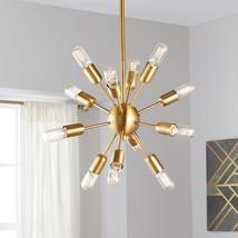 """Safavieh Lighting Raging 12-light Gold Solace Pendant Light 17.5"""" Starburst - $147.51"""