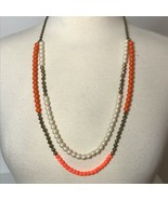 """J. Crew 2 Strand Abstract Bead Necklace Approx 31"""" - $27.72"""