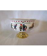 Christmas Love 2000 Teleflora Wysocki Porcelain Footed Centerpiece Bowl & Liner - $12.00
