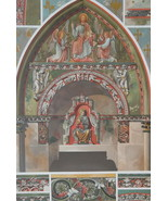 CHURCH PAINTINGS 13th C France Reims Cathedral - 1888 COLOR Litho Print - $21.60